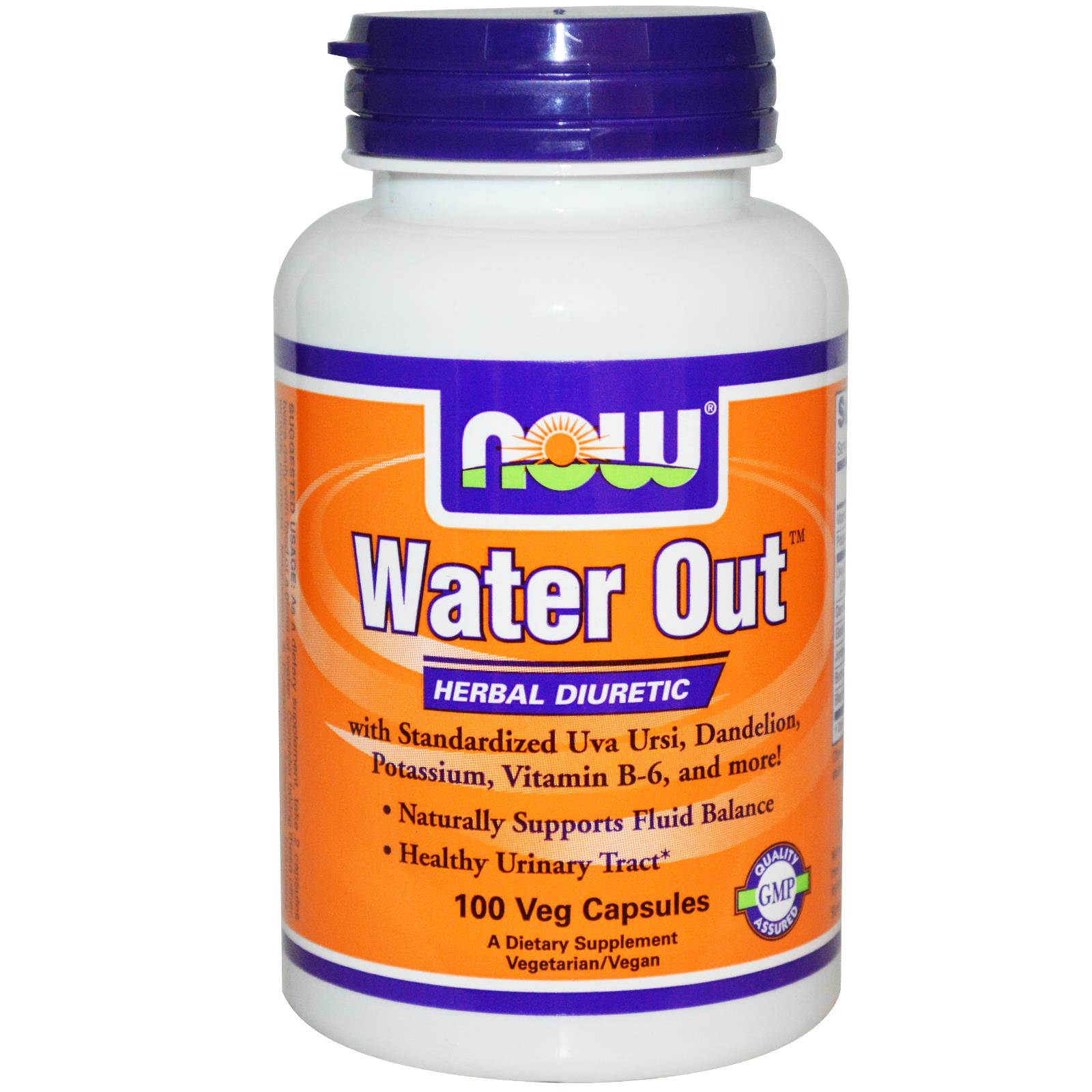 iherb浮腫み水太り解消:Now Foods Water Out Herbal Diuretic